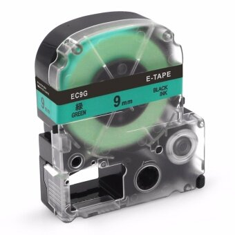 Fimax 1 Piece SC9G 9mm Black on Green Label Printer Tape For KingJim TEPRA Tape Printers Compatible EPSON Label Printer Ribbons -intl