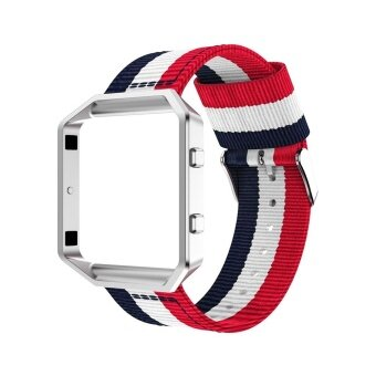 Harga Fine Woven Nylon Replacement Band Sport Adjustable Strap for FitbitBlaze Watch(Without Frame) - intl