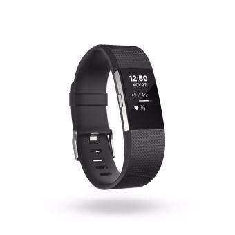 Fitbit Charge 2 Black สายรัดข้อมือ สีดำ ไซด์ Large