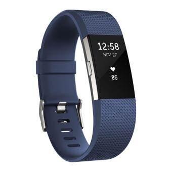 Fitbit Charge 2 Blue สายรัดข้อมือสีน้ำเงิน ไซด์ Small - รับประกันศูนย์ 1 ปี