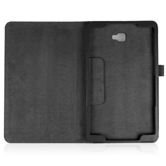 Folding Stand Leather Case Cover For Samsung Galaxy Tab A 10.1 2016T580N Black - intl