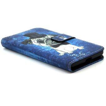 สินค้าราคาถูกมาก Folio Leather Protective Cover for Microsoft Lumia 535 535 Dual Sim(Blue)
