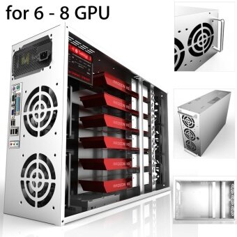 For 6-8 GPU ETH BTC Ethereum Crypto Coin Open Air Mining Frame Rig Graphics Case - intl