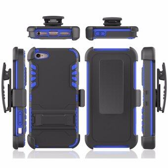 for Apple iPhone 5 5S SE [Steel Card] GuluGuru Heavy Duty ArmorBelt Clip Holster With Built-in Kickstand + Card Storage Slot CellPhone Case Cover - intl
