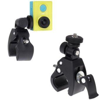For Gopro ขายึดจักรยานสำหรับกล้อง Gopro/SJCam/Xiaomi Handlebar Camp Lock Stand (สีดำ)