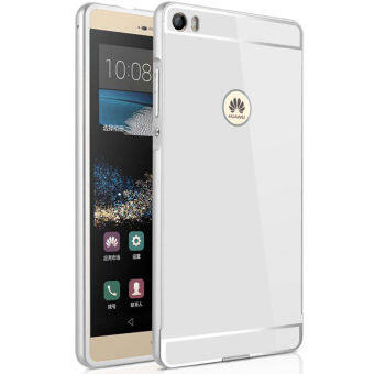 Harga For Huawei Ascend P8 Max Case 6.8'' inch Luxury Aluminum MetalFrame + Acrylic Back Cover Case(Silver)