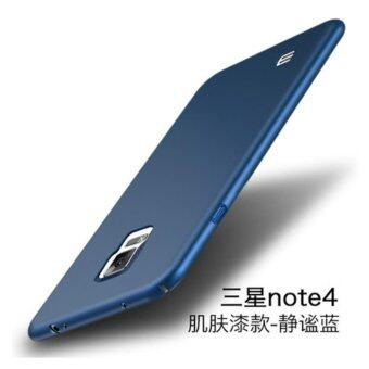 For S amsung Galaxy Note 4 360 degrees Ultra-thin PC Hard shell phone cover case/Blue - intl