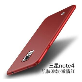 For S amsung Galaxy Note 4 360 degrees Ultra-thin PC Hard shell phone cover case/Red - intl