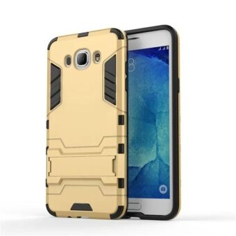 For Samsung Galaxy J7 2016 Armor Shockproof Case Anti-Knock HardBack Cover TPU+PU Kickstand Phone Shell - intl
