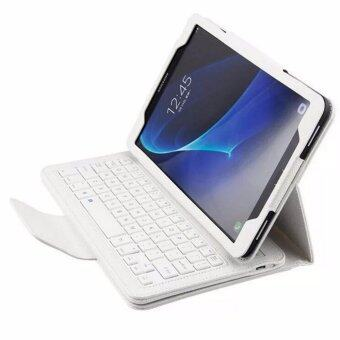 For Samsung Galaxy Tab A 10.1 2016 T580 T585 T580N T585NMagnetically Detachable ABS Bluetooth Keyboard PU Leather CaseCover, White - intl
