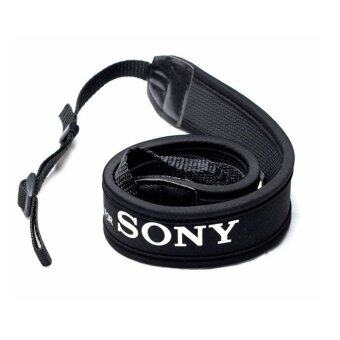 For Sony สายคล้องกล้อง แบบนิ่ม Neoprene รุ่น Sony(สายสีดำ/อักษรขาว)