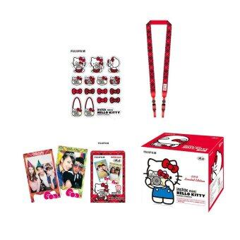 Fujifilm Instax Mini 8 Hello Kitty (Red) + Film Kitty 10 sheets +Kitty Stickers + Strap (image 2)