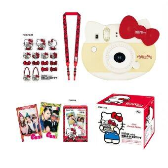Fujifilm Instax Mini 8 Hello Kitty (Red) + Film Kitty 10 sheets +Kitty Stickers + Strap