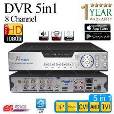 เครื่องบันทึกภาพ FULL HD 1080P / 720P / P2P / CCTV AHD & DVR & IP 5 in1 AHD /IP/ ANALOG / CVI / TVI 8 CH