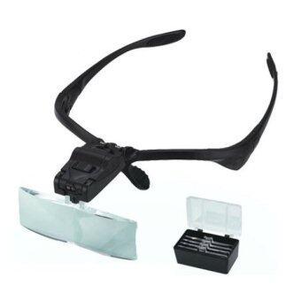 Gadget Headband Magnifying Glass แว่นตาเลนซ์ขยาย - สีดำ