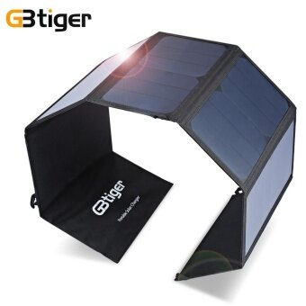 GBtiger 40W Dual Outputs Portable Sunpower Solar Charger PanelWater Resistant Folding Bag - intl