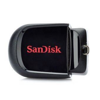 ?Genuine Sandisk Cruzer Fit Mini USB 2.0 แฟลชไดรฟ์ 16GB –Black/Red