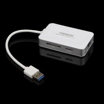 Gigabit Ethernet LAN Network 2 Port USB 3.0 RJ45 HUB And CardReader - intl