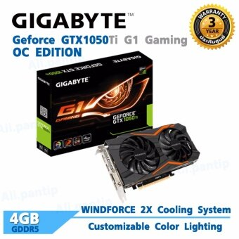 Gigabyte Geforce 1050Ti G1 Gaming OC Edition 4GB GDDR