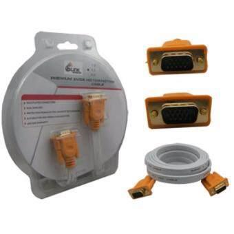 Glink สายจอ VGA ยาว 3 เมตร Super VGA RGB Projector/LCD/LED Cable3+6 Cable 3 M สายยางแบน หัวทอง