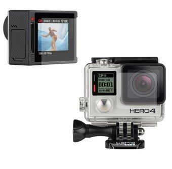 GoPro Clear LCD Screen Guard + Housing Lens Protector Film for GoPro Hero 4 (ฟิล์มกันรอย GOPRO)
