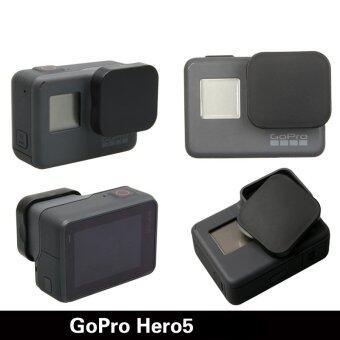 Gopro Hero 5กล้องอุปกรณ์เครื่องป้องกันร้อนขายฝาครอบเลนส์เคสสำหรับมืออาชีพไปHero 5 อุปกรณ์ (สีดำ) (image 2)