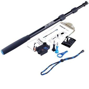 GoPro Smatree SmaPole S2 All-aluminum Gopro Handheld Pole integrated with a Tripod Mount (16″to 40″ Extension) + Smatree Protective ClipCase ( for WiFi Remote Controller for GoPro Hero 1, 2, 3, 3+,4 )