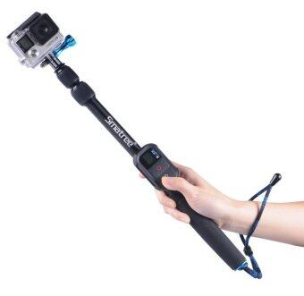 GoPro Smatree SmaPole S2 All-aluminum Gopro Handheld Pole integrated with a Tripod Mount (16″to 40″ Extension) + Smatree Protective ClipCase ( for WiFi Remote Controller for GoPro Hero 1, 2, 3, 3+,4 ) (image 1)