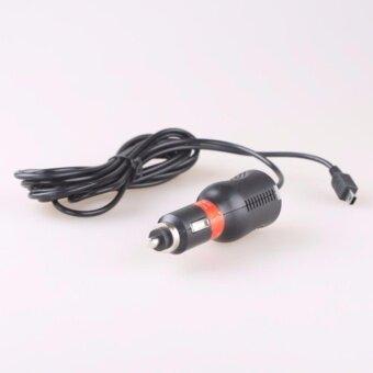 สายชาร์จกล้องติดรถยนต์ และ GPS 5V 2A ยาว 3.3เมตร (สีดำ)