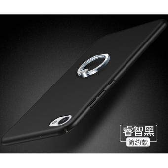 Hard 360 PC With Metal Ring phone case PC With Metal Ring for ZTE Nubia M2 Lite/Black - intl