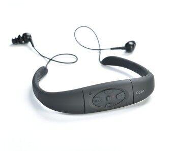 หูฟังกีฬา หัวติด Waterproof MP3 Player Hi-Fi stero หูฟังสำหรับว่ายน้ำ ท่อง ดำน้ำ ใต้น้ำเล่นกีฬา เครื่องเล่นเพลงในตัวหน่วยความจำ 8GB (สีดำ)- intl