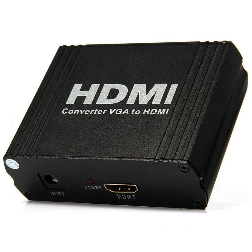 HDCVGA01 VGA R / L Audio to HDMI Converter Support 1080P for PC Laptop - 100 - 240V (Black)