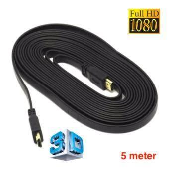 สาย HDMI meal To HDMI Meal 5m เมตร v1.4 แบบแบน (Black)