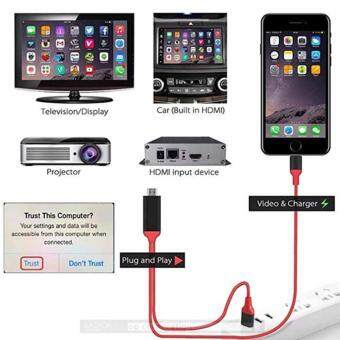 HDTV Lightning HDMI To TV AV Adapter iphone to HDTV Cable สายแปลง Iphone เป็น HDMI
