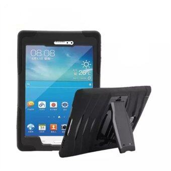Heavy Duty Rugged Hybrid Full Body Armor Kickstand Shock Wave Casefor Samsung Galaxy Tab A 8.0 (Black) - intl