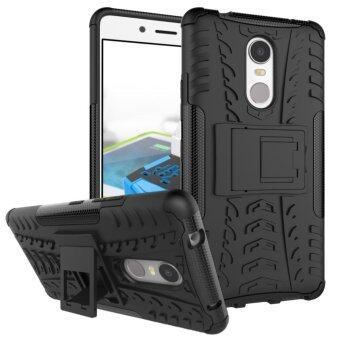 Hicase Detachable 2 in 1 Shockproof Tough Rugged Dual-Layer Case Cover for Lenovo K6 Note 5.5 Black - intl