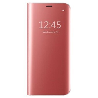 Harga Hicase View Flip Cover with Kickstand Case For Samsung Galaxy S6 Edge Rose Gold - intl
