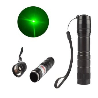High Power 5mw 532nm Visible Light Beam Green Military LaserPointer Pen - intl