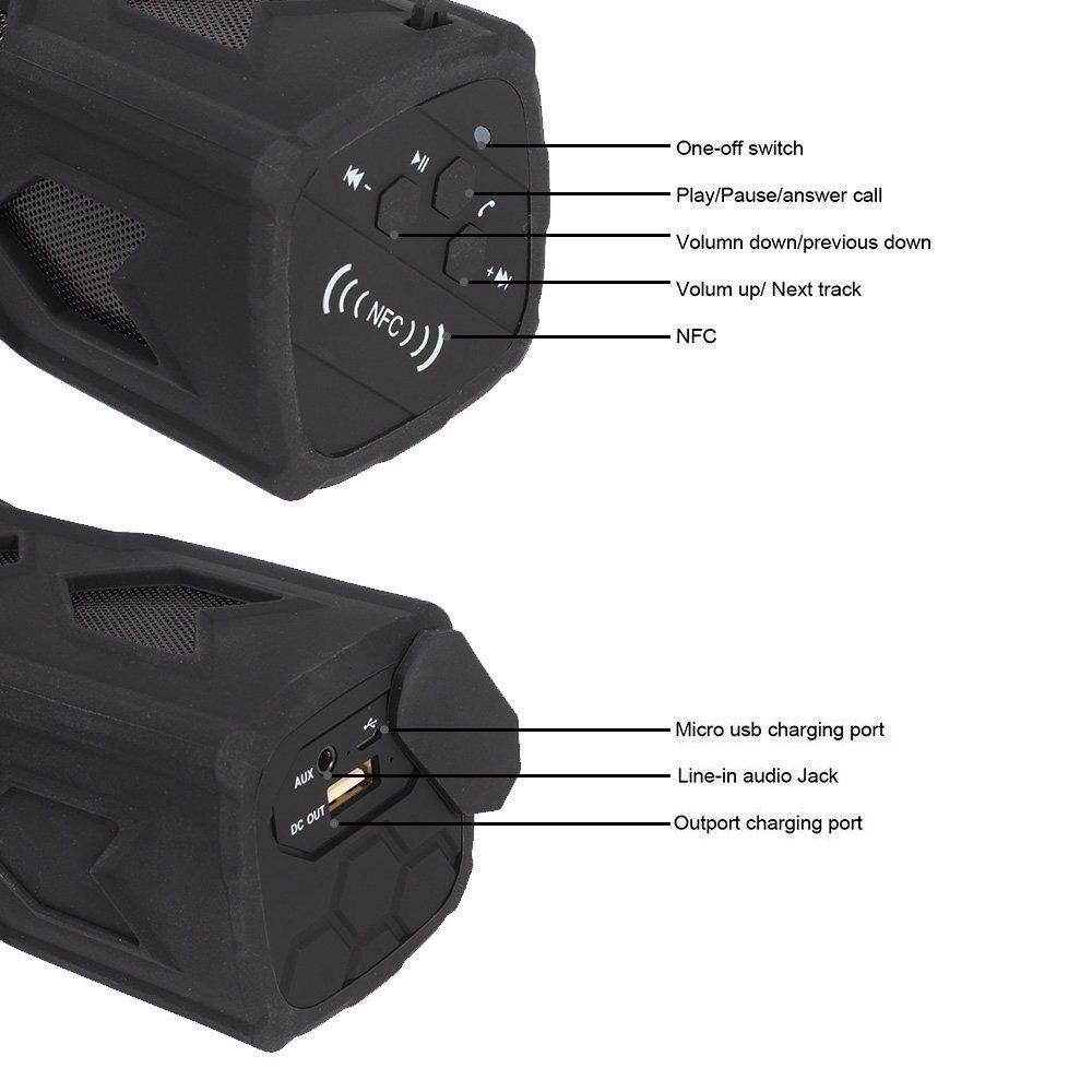 Hign Quality Portable Waterproof Bluetooth 4.0 Wireless SpeakerSuper Bass For Smartphone Tablet PC .