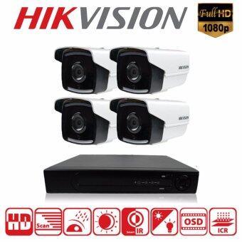 โปรโมชั่นพิเศษ Hikvision ชุดกล้องวงจรปิดกล้อง 4CH CCTV 4ตัว ทรงกระบอก 2.0MP 1080p Full HD และอนาล็อก เครื่องบันทึก 4 ช่อง DS-2CE16D1T-IT5