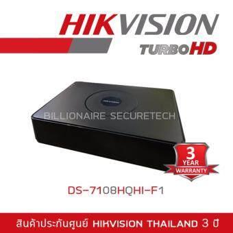 Hikvision เครื่องบันทึก 8 ช่อง DS-7108HQHI-F1/N HDTVI,AHD 2MP (เครื่องสีดำ)