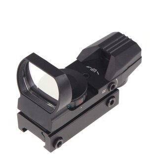 Holographic 4 Reticle Electro Red/Green Dot Tactical 33*22mm Reflex Sight Scope with Mount Hunting Combat Military - intl