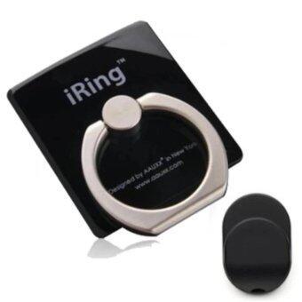 แหวนยึดโทรศัพท์ พร้อม HOOK ตัวแขวนสำหรับติดตั้งในรถยนต์ Black)