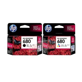 HP 680 (F6V27AA) BK + 680 (F6V26AA) CO ของแท้