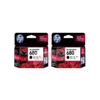 HP 680 (F6V27AA) INK Black สีดำ 2 ชิ้น ของแท้