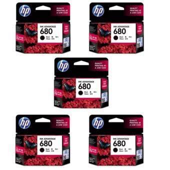 HP 680 (F6V27AA) INK Black สีดำ – 5 ตลับ ของแท้ ประกันศูนย์