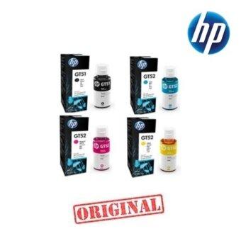 2561 หมึกเติม HP GT51 BK , GT52 C-M-Yแพ็ค 4 สี ของแท้