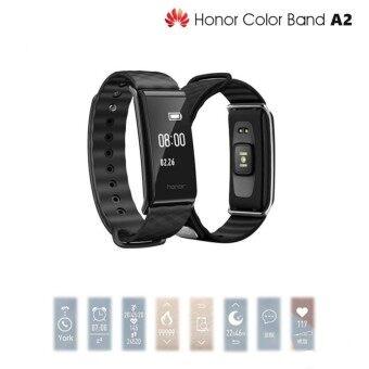 Huawei Color Band A2 นาฬิกาอัจฉริยะ วัดการเต้นของหัวใจ นับก้าว นับแคลลอรี่ กันฟุ่น กันน้ำของแท้ 100% รับประกันศูนย์ Huawei ทั่วประเทศไทย (Black)