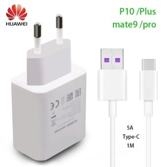 HUAWEI P10 Plus Fast Charger Supercharge Quick Travel Wall Adapter Type-C3.0 USB Cable(White) - intl