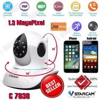 ราคา i-Uniqueกล้อง IP Camera VSTARCAM รุ่น C7838WIP 1.3 Mp and IR Cut Wireless Pan - Black/White